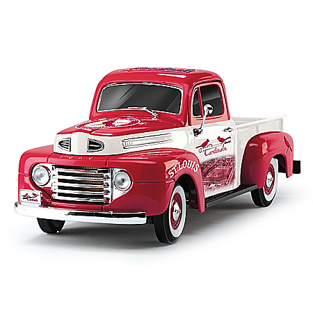 1:18-Scale Cardinals 1948 Ford Pickup Truck Sculpture