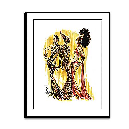 Bob Mackie Soulful Beauties Wrapped Canvas Print