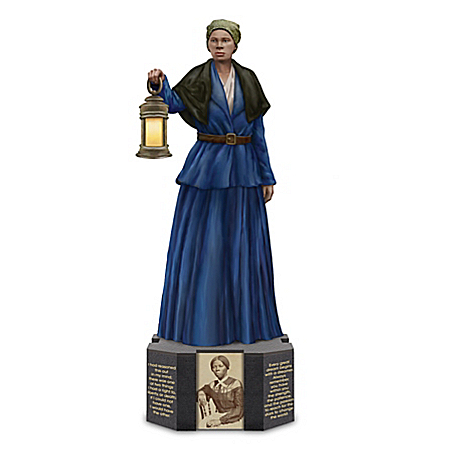 Harriet Tubman Sculpture With Inspiring Quotes On Base