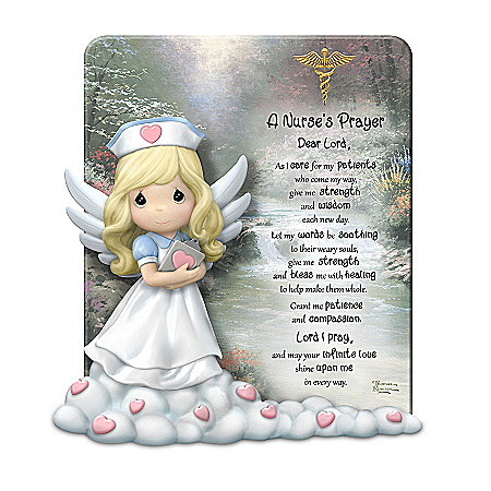 Precious Moments Thomas Kinkade A Nurse's Prayer Sculpture