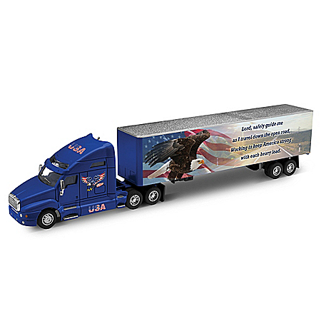 1:50-Scale Diecast Cab & Trailer Salutes America's Truckers