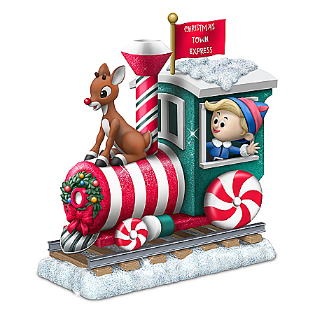 Rudolph The Red-Nosed Reindeer Train Car Figurine