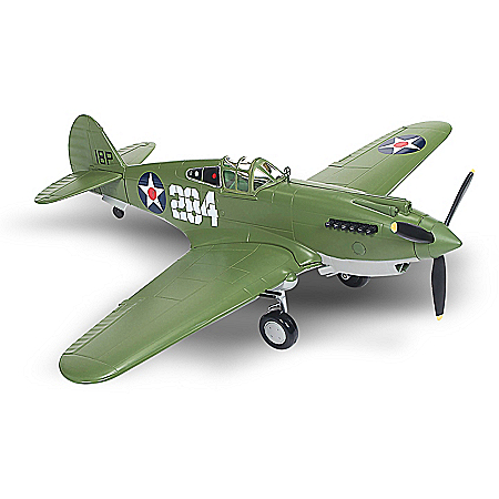 1:44-Scale Curtiss P-40B Tomahawk Diecast Airplane