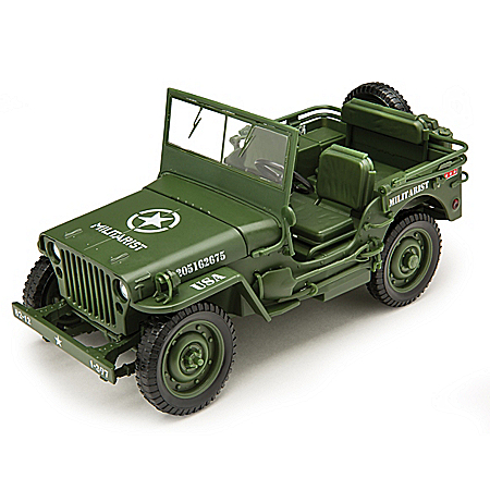 1:18-Scale 1941 U.S. Military Diecast Jeep Honors VJ Day