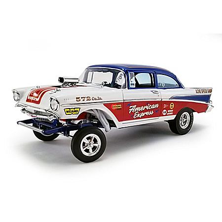 1:18-Scale 1957 Chevrolet Bel Air Gasser American Express Diecast Car