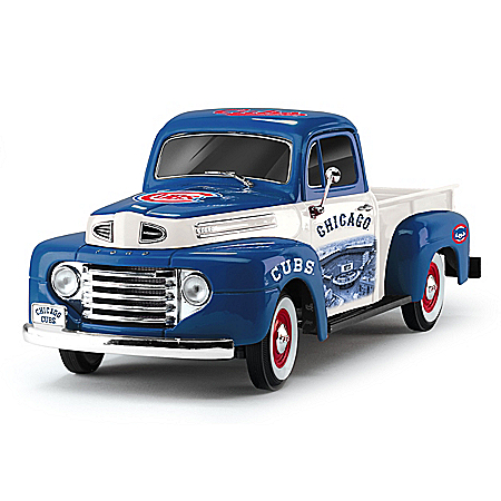 1:18-Scale Cubs 1948 Ford Pickup Truck Sculpture