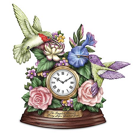 Lena Liu Inspirational Hummingbird Table Clock