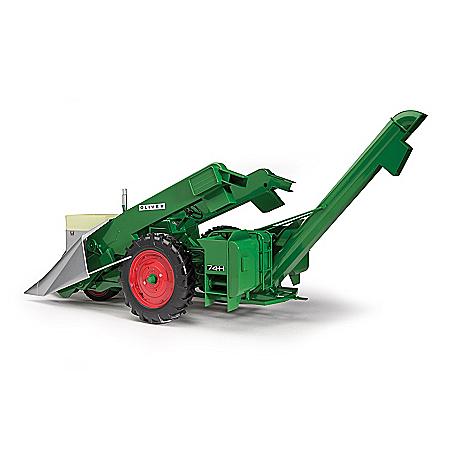 1:16-Scale Oliver Super 88 Diecast Tractor And Corn Picker