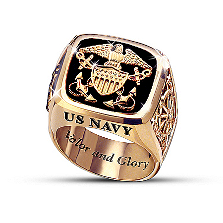 Navy Men's Ring