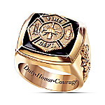 Fireman's Tribute Maltese Cross Men's Ring
