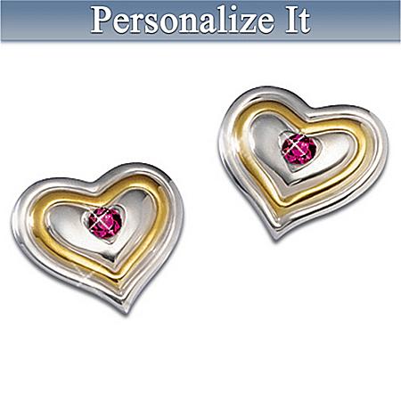 My Love, My Joy Birthstone Pierced Earrings