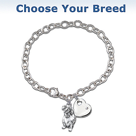 Loyal Companion Keepsake Dog Charm Bracelet by The Bradford Exchange Online - Lovely Exchange