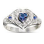 True Heart Tanzanite And Diamond Heart Shaped Ring: Romantic Jewelry Gift For Her Romantic Gifts for Her