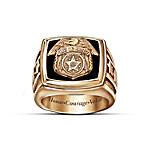 Police Officer Gold Ring