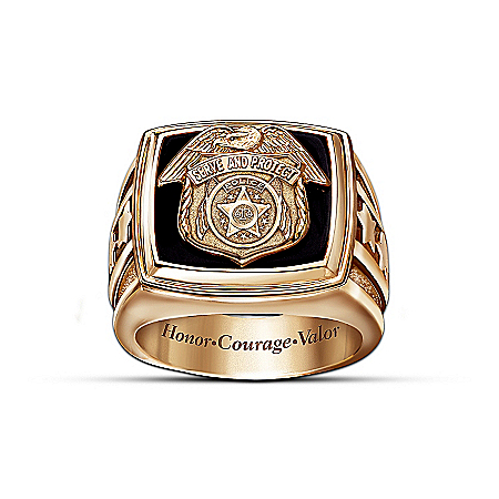 Police Officer Gold Ring