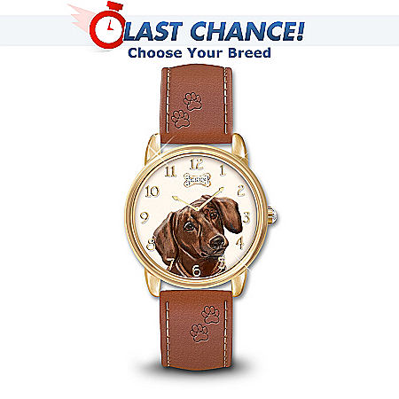 Loyal Companion Dog Themed Watch With Leather Band