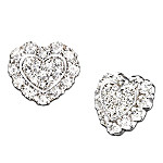 Hearts Of Love Heart Shaped Diamond Earrings: Romantic Gift For Her Romantic Gifts for Her