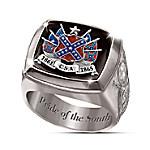 Civil War Commemorative Mens Sterling Silver Ring