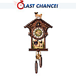 Dogs Make A House A Home Cuckoo Clock: Collectible Dog Lover Gift