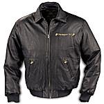 USMC Leather Jacket: United States Marine Corps Gift