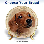 My Faithful Friend Dog Lover Collector Plate