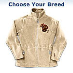 Loyal Companion Women's Fleece Jacket With Dog Embroidery: Unique Dog Lover Apparel Gift
