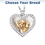 My Devoted Friend Engraved Heart-Shaped Pendant Necklace - Keepsake Jewelry Gift For Dog Lovers