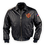 Courage Under Fire Firefighter Black Leather Jacket: Gift For Firemen