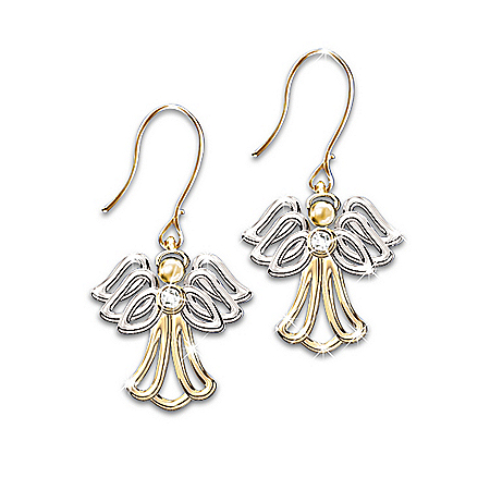 My Dear Granddaughter Angel Diamond Earrings: Angel Jewelry Gift For Granddaughters