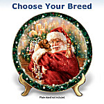 Christmas Wish Come True Dog Collector Plate