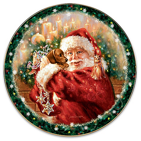 A Christmas Wish Come True Dog Collector Plate