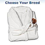 Wrapped In Love Dog Art Embroidered Microfiber Women's Robe: Unique Dog Lover Gift