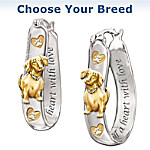 Shih Tzu Engraved Sterling Silver Earrings