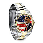 Barack Obama Commemorative Engraved Watch