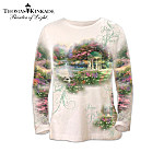 Thomas Kinkade Artistic Design Season Of Beauty Shirt Collection