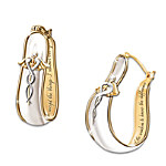 Nurse Serenity Prayer Sterling Silver And 24K Gold-Plated Earnings