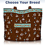Faithful Friend Dog Quilted Tote Bag