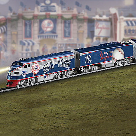 Choose Your Team! Major League Baseball Train Collection by The Bradford Exchange Online - Lovely Exchange