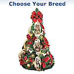 Happy Howl-idays Dog Lover's Pre-Lit Pull-Up Christmas Tree