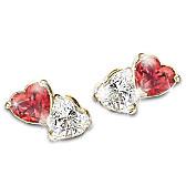 Two Hearts, One Love Earrings