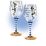 Dolly Mama's Game Day Divas Wine Glass Collection
