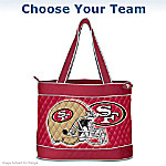 Choose Your Team - NFL Team Tote Bags With Two Free Cosmetic Accessory Cases