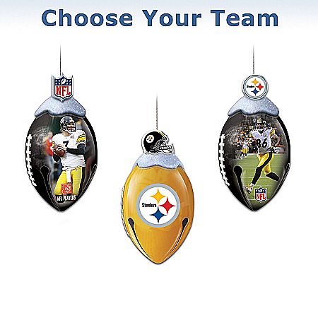 NFL FootBells Christmas Ornament Collection