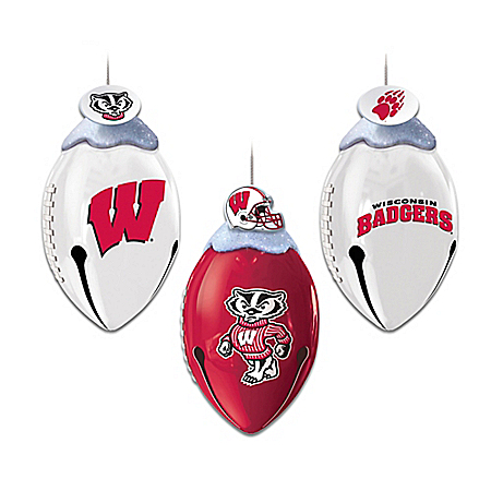 Photo of College Football FootBells Ornament Collection by The Bradford Exchange Online