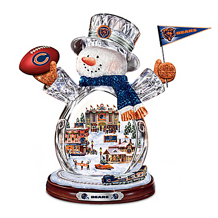 NFL Figurine: Crystal Snowman by The Bradford Exchange Online - Lovely Exchange