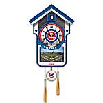 MLB Teams Wall-Hanging Cuckoo Clock