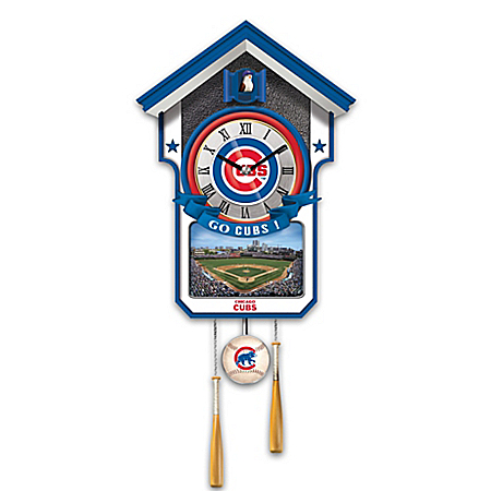 MLB Teams Wall-Hanging Cuckoo Clock by The Bradford Exchange Online - Lovely Exchange