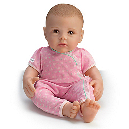 So Truly Mine Handcrafted Lifelike Play Baby Doll by The Bradford Exchange Online - Lovely Exchange
