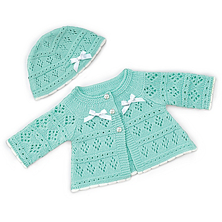 Knit Sweater And Hat Baby Doll Accessory Set by The Bradford Exchange Online - Lovely Exchange