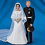 Meghan Markle And Prince Harry Royal Romance Porcelain Wedding Dolls